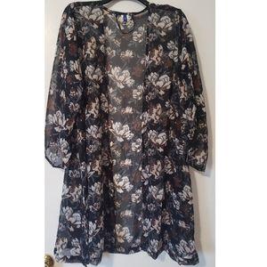 Women's Apt. 9 Lightweight Chiffon Floral Kimono